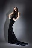 Женщина в длинном платье Стоковая Фотография RF