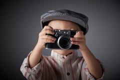 年轻摄影记者 免版税库存照片