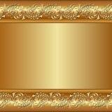 Золотая предпосылка Стоковое Изображение RF