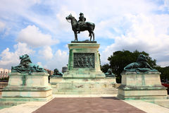 美国格兰特雕象 免版税库存图片