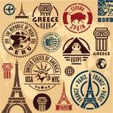 旅行邮票 免版税图库摄影