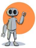 机器人漫画人物吉祥人 免版税库存图片