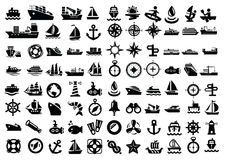 Шлюпка и корабль Стоковое Изображение