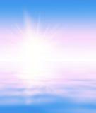 抽象海洋日出背景 图库摄影