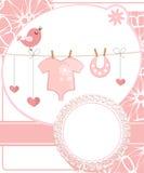 女孩的逗人喜爱的剪贴薄有婴孩元素的。 图库摄影