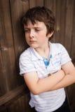 Унылый мальчик Стоковое Изображение