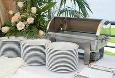 意大利空的承办酒席食品加热器 免版税库存图片