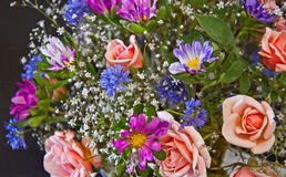 与桃子玫瑰的百花香 库存照片