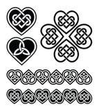 Κελτικός κόμβος καρδιών - σύμβολα καθορισμένα Στοκ Φωτογραφίες