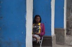 哈瓦那的人们 免版税库存照片