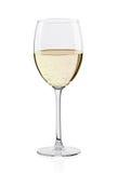 杯白葡萄酒 免版税库存照片