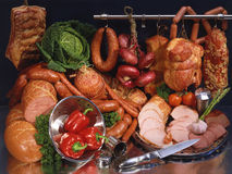 Ακόμα κρέας και λουκάνικο Στοκ εικόνες με δικαίωμα ελεύθερης χρήσης