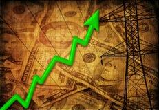 能源向上利润趋势 库存图片