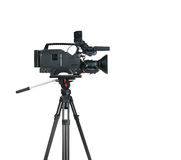 专业数字式摄象机。 库存图片