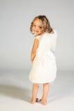 天使女孩一点 免版税图库摄影