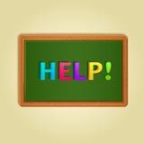 从五颜六色的信件组成的词帮助 免版税库存图片