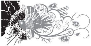 信仰和生活街道画纹身花刺 库存图片
