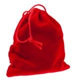 红色礼物大袋 免版税库存图片