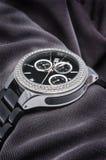 有金刚石的手表 免版税库存照片