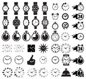 Часы значка установленные Стоковая Фотография RF