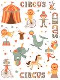 Цирк в городке Стоковые Фото