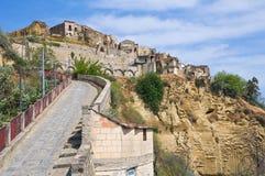 图尔西全景。巴斯利卡塔。意大利。 免版税图库摄影