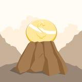 在岩石的美元 库存照片