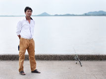 渔夫渔 图库摄影