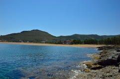 在干尼亚附近的美丽的海,克利特海岛,希腊 库存图片