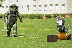 Группа по обнаружению и обезвреживанию взрывных устройств Стоковые Фото