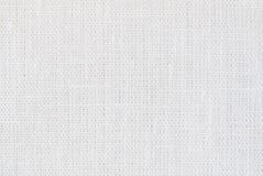 白色亚麻制纹理背景 免版税库存照片