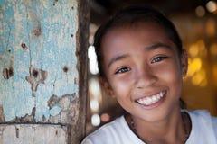 菲律宾女人女孩画象 免版税库存照片