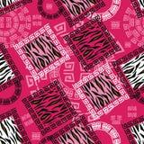 Αφηρημένο αφρικανικό ύφος άνευ ραφής με το σχέδιο δερμάτων άγριων ζώων Στοκ φωτογραφία με δικαίωμα ελεύθερης χρήσης