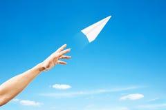 纸飞机 免版税库存照片