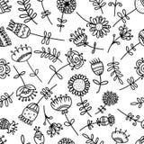 您的设计的抽象花卉样式 库存图片