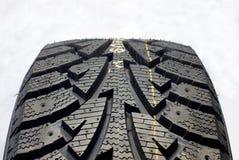 Автошина автомобиля зимы Стоковая Фотография