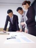 亚洲企业队 免版税图库摄影