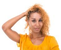 Какой стиль причёсок делает? Стоковое Фото