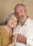 夫妇英俊的前辈 图库摄影