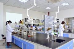 Эксперимент по лаборатории Стоковые Фотографии RF