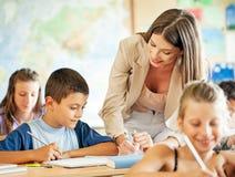老师和学生 库存图片