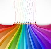 Αφηρημένο υπόβαθρο με τα μολύβια τέχνης. Διάνυσμα Στοκ φωτογραφία με δικαίωμα ελεύθερης χρήσης