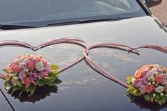婚礼汽车 免版税库存照片