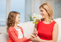 母亲和女儿 免版税库存照片