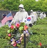 纪念韩战的退伍军人 图库摄影