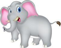 逗人喜爱的大象动画片 免版税图库摄影