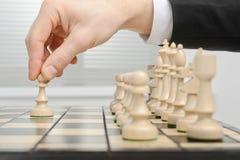 棋,第一移动 免版税库存图片