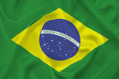 Σημαία της Βραζιλίας Στοκ εικόνες με δικαίωμα ελεύθερης χρήσης