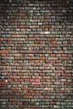 老红砖墙壁都市背景纹理 免版税图库摄影