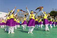 Κορεατικός εορτασμός για το φεστιβάλ φαναριών φωτισμού Στοκ Φωτογραφίες